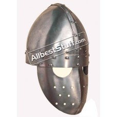 Medieval 12th Century Crusader Spangenhelm with Faceplate