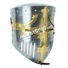 Medieval 13th Century Great Pot Helmet Made of 16 Gauge Steel