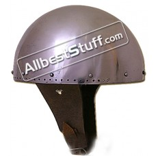 Medieval 14 Gauge Secret Helmet Steel Battle Ready