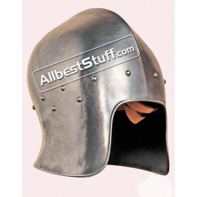 Medieval 15th Century Barbute Helmet Made of 14 Gauge Steel