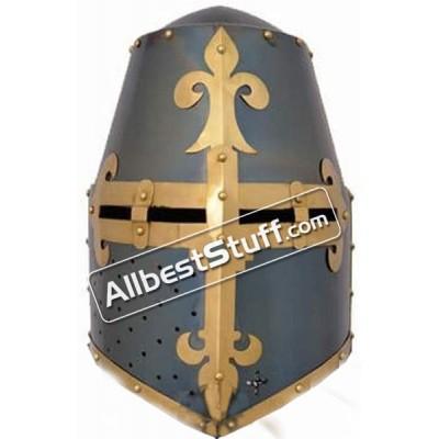 Medieval 16 Gauge Steel Great Helmet of Reiter von Kornberg Nuremberg