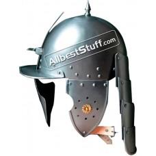 Medieval 16th century Burgonet with visored Helmet