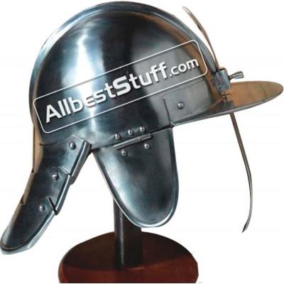Medieval 17th Century Hussar 16 Gauge Steel Helmet