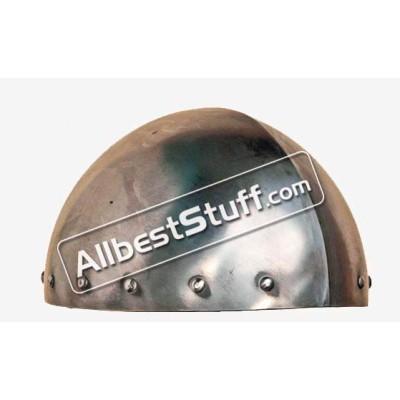 Medieval 7th Century Cervelliere Helmet Made of 16 Gauge Steel