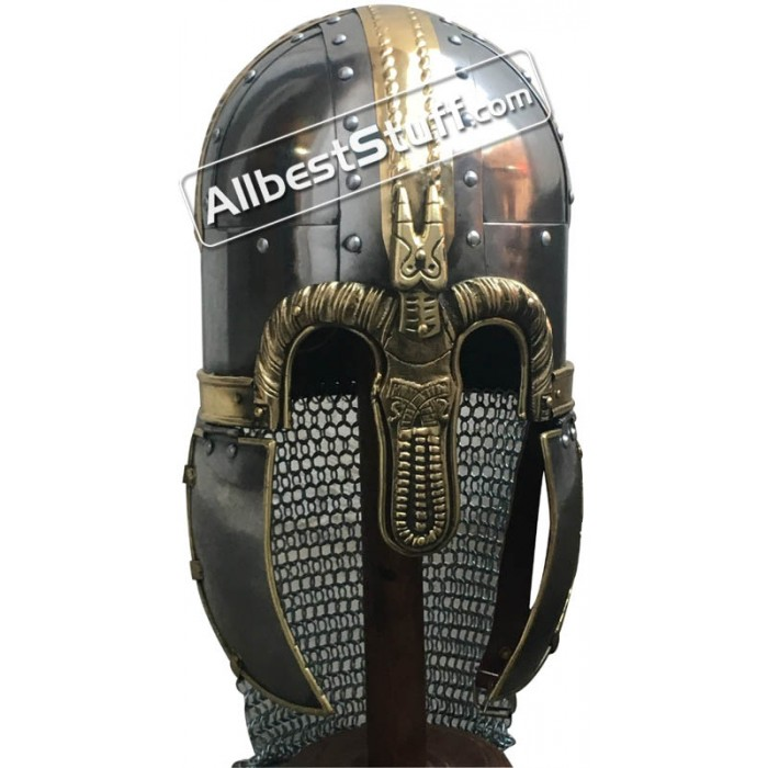 Medieval 8th-Century Anglo-Saxon Coppergate Helmet
