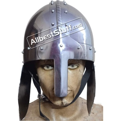 Medieval 9th Century Viking Nasal Early Spangenhelm Helmet