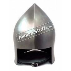 Medieval Archer Open Face Sallet 14 Gauge Steel Helmet