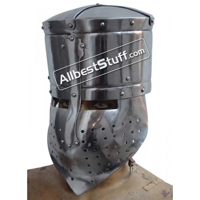 Medieval Armor Crusader Medieval Helmet Steel Wearable Costume Armor