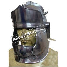 Medieval Auxiliary Cavalry Helmet ''E'' 20 Gauge Steel
