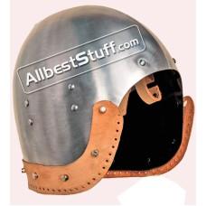Medieval Bascinet 14 Gauge Steel Helmet