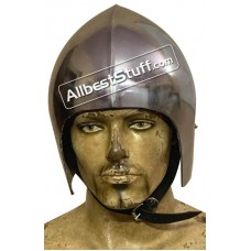 Medieval Bascinet Basic Helmet made from 14 Gauge Steel