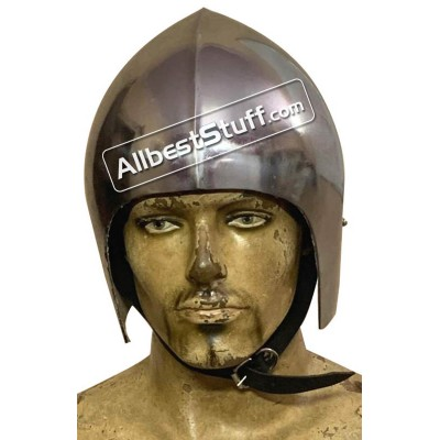 Medieval Bascinet Basic Helmet made from 14 Gauge Steel