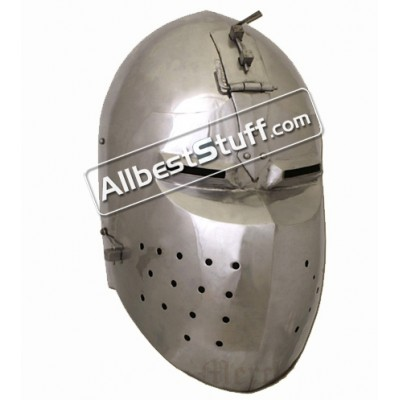 Medieval Bascinet Helmet 14th Century made from 14 Gauge Steel