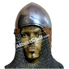 Medieval Bascinet Helmet Strong 14 G Steel Comes with Aventail