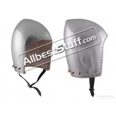 Medieval Bascinet Helmet Without Visor made from 14 Gauge Steel