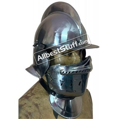 SALE! Medieval Burgonet Close Helmet 18 Gauge Steel