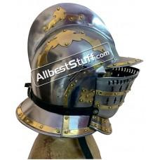 Medieval Burgonet Helmet of 16th Century made of 18 Gauge Steel