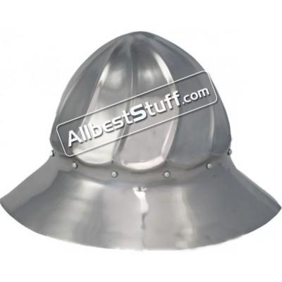 Medieval Burgundian 15th Century kettle hat Steel Helmet