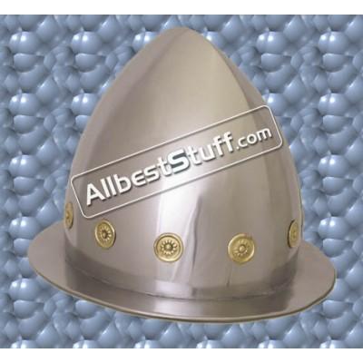Medieval Cabasset Helmet Late 16th Century 16 Gauge Steel