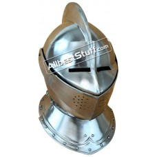 Medieval Closed Helmet Made of 16 Gauge Steel