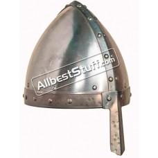 Medieval Conical Nasal Helmet Early Made of 16 Gauge Steel