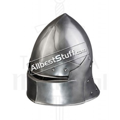 Medieval Coventry Sallet Helmet made from Strong 14 Gauge Steel