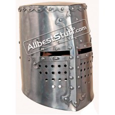 Medieval Crusader Templar Helmet Great Helm Made of 16 Gauge Steel
