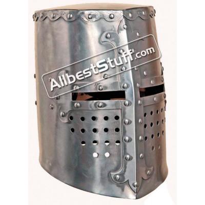 Medieval Crusader Templar Helmet Great Helm Made of 16 Gauge Steel