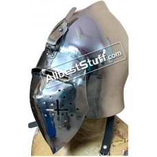 Medieval Early Visor Helmet made in Heavy 14 Gauge Steel