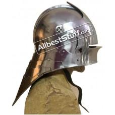 Medieval German Sallet Helmet 16 Gauge Steel Battle Ready