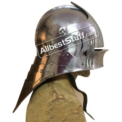 Medieval German Sallet Helmet 16 Gauge Steel Battle Ready