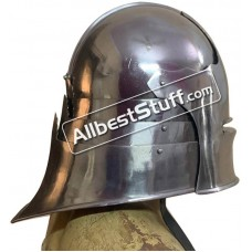 Medieval German Sallet Helmet Strong 14 Gauge Steel Battle Ready