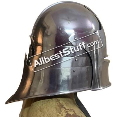 Medieval German Sallet Helmet Strong 14 Gauge Steel Battle Ready