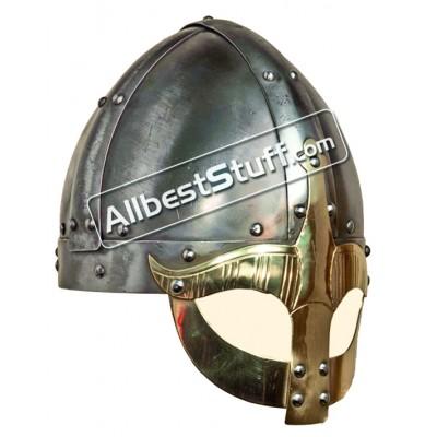 Medieval Gjermundbu Helmet 16 Gauge Strong Battle Ready