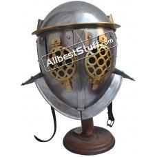 Medieval Gladiator Provocator Helmet 18 Gauge Steel