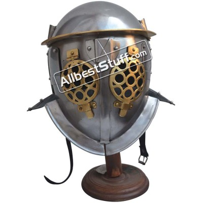 SALE! Medieval Gladiator Provocator Helmet 18 Gauge Steel