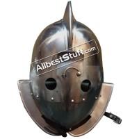 Medieval Gladitor Secutor Helmet Heavy Duty 14 Gauge