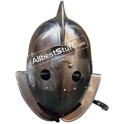 SALE! Medieval Gladitor Secutor Helmet Heavy Duty 14 Gauge