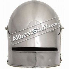 Medieval Gothic Sallet Helmet 14 Gauge Steel