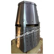 Medieval Great Helmet Crusade 16 Gauge Helm