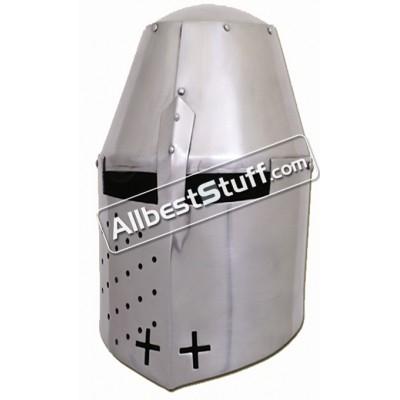 Medieval Great Helmet Pembridge Style 14 Gauge Steel