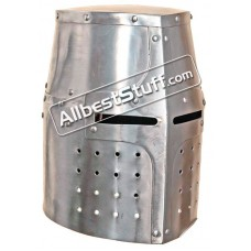 Medieval Great Knights Templar Helmet Made of 18 Gauge Steel