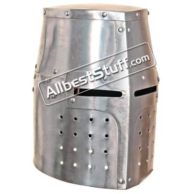 Medieval Great Knights Templar Helmet Made of 18 Gauge Steel