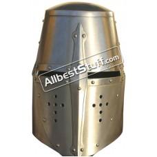 Medieval Great helm Made of 16 Gauge Steel Helmet