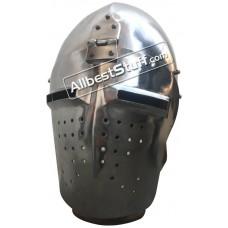 Medieval Heavy 14 Gauge Steel Bascinet Helmet