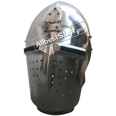 SALE! Medieval Heavy 14 Gauge Steel Bascinet Helmet