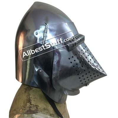 Medieval Houndskull Bascinet Hemlet made from 16 Gauge Steel