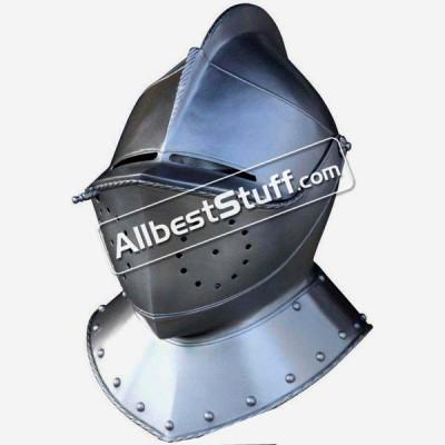 Medieval Italian Armet 18 Gauge Steel Helmet