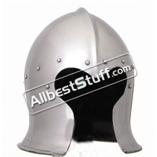 Medieval Italian Barbute Bascinet Helmet of 1470 AD made from Heavy 14 Gauge Steel