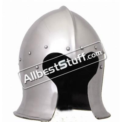 Medieval Italian Barbute Bascinet Helmet of 1470 AD made from Heavy 14 Gauge Steel
